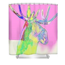 Moosemerized Shower Curtain