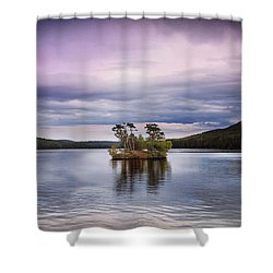 Moose Pond Maine Shower Curtain