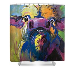 Moove Aside Shower Curtain