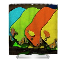 Shower Curtain featuring the photograph Mooving On by Paul Wear