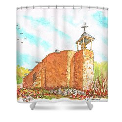 Morada De La Conquistadora Chapel, Santa Fe, New Mexico Shower Curtain
