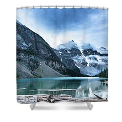 Moraine Lake Blues Shower Curtain