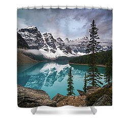 Moraine Lake In The Canadaian Rockies Shower Curtain