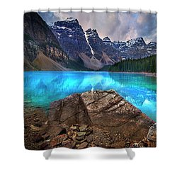 Moraine Lake Shower Curtain by John Poon