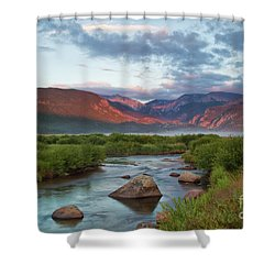 Moraine Park Glow Shower Curtain