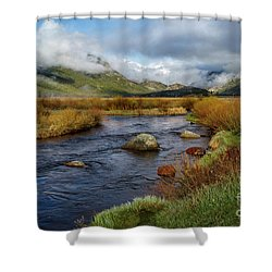 Moraine Park Morning - Rocky Mountain National Park, Colorado Shower Curtain by Ronda Kimbrow