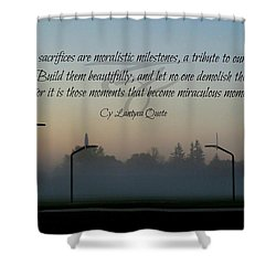 Moral Milestones Shower Curtain