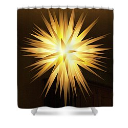 Moravian Star Shower Curtain