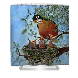 More Food Shower Curtain by Roseann Gilmore