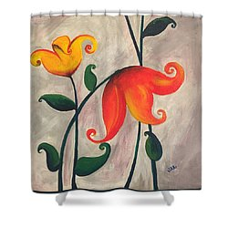 More Fun Flowers -b Shower Curtain