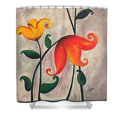 More Fun Flowers -b Shower Curtain