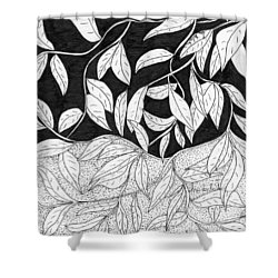 More Leaves Shower Curtain by Lou Belcher