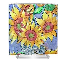 More Sunflowers Shower Curtain by Loretta Nash