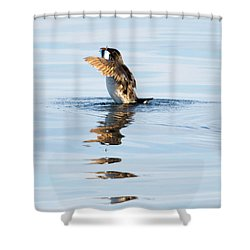 More Than A Mouthful Shower Curtain by Mike Dawson