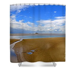 Morecambe Bay Cumbria Shower Curtain by Louise Heusinkveld