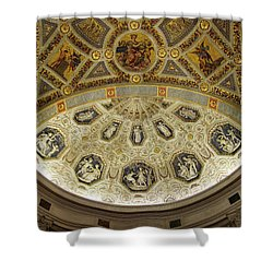 Shower Curtain featuring the photograph Morgan Library Rotunda by Jessica Jenney
