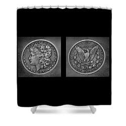 Morgan Silver Dollar--1891 Shower Curtain