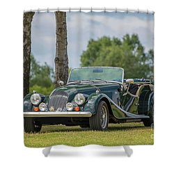 Shower Curtain featuring the photograph Morgan Sports Car by Adrian Evans