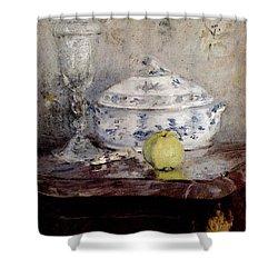 Morisot Berthe Tureen And Apple Shower Curtain