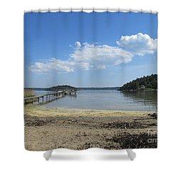 Aspvik On Morko Island Shower Curtain