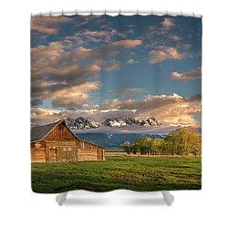 Mormon Row At Sunrise Shower Curtain