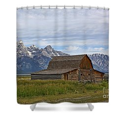 Mormon Row Barn And Grand Tetons Shower Curtain
