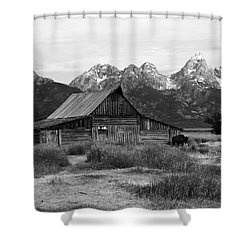 Mormon Row Famous Barn Shower Curtain by Teresa Zieba