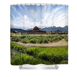 Mormon Row Morning Shower Curtain