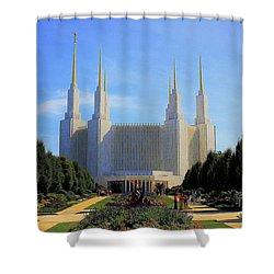 Mormon Temple Dc Shower Curtain