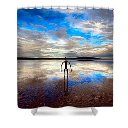 Morning Arrival At Lake Ballard Shower Curtain