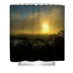 Shower Curtain featuring the photograph Morning Arrives by Karol Livote