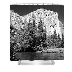 Shower Curtain featuring the photograph Morning At El Capitan by Sandra Bronstein