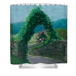 Morning At Harkness Park Shower Curtain by Paula Emery