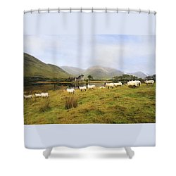 Morning At Kilchurn Shower Curtain by Roy  McPeak