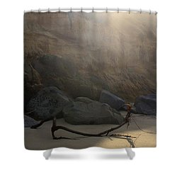 Shower Curtain featuring the photograph Morning At Moonlight by Suzanne Oesterling