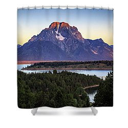 Morning At Mt. Moran Shower Curtain