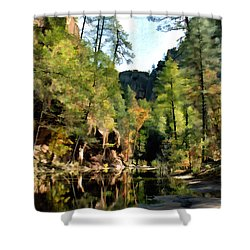 Morning At Oak Creek Arizona Shower Curtain by Kurt Van Wagner