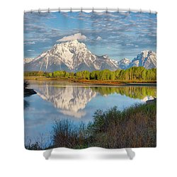 Morning At Oxbow Bend Shower Curtain