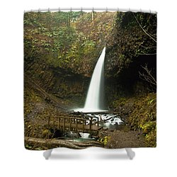 Morning At The Waterfall Shower Curtain