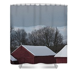 Morning Barnscape Shower Curtain