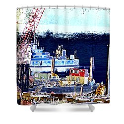 Morning Blooms Shower Curtain by Rachel Christine Nowicki