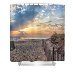 Morning Breaks Shower Curtain by David Cote