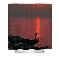 Morning Breaks Shower Curtain