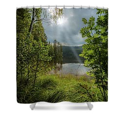 Morning Breath Shower Curtain by Rose-Marie Karlsen