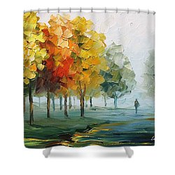 Morning Breeze Shower Curtain by Leonid Afremov