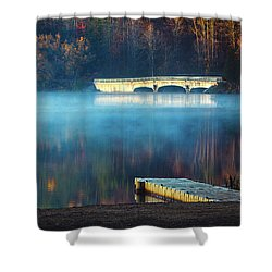 Morning Burn Off  Shower Curtain