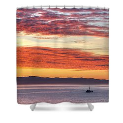 Morning Catch 2 Shower Curtain