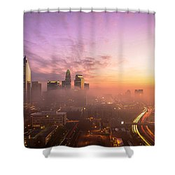 Morning Charlotte Rush Hour Shower Curtain by Serge Skiba