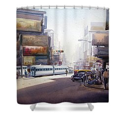 Morning City Street Shower Curtain