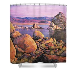 Morning Colors At Lake Pyramid Shower Curtain
